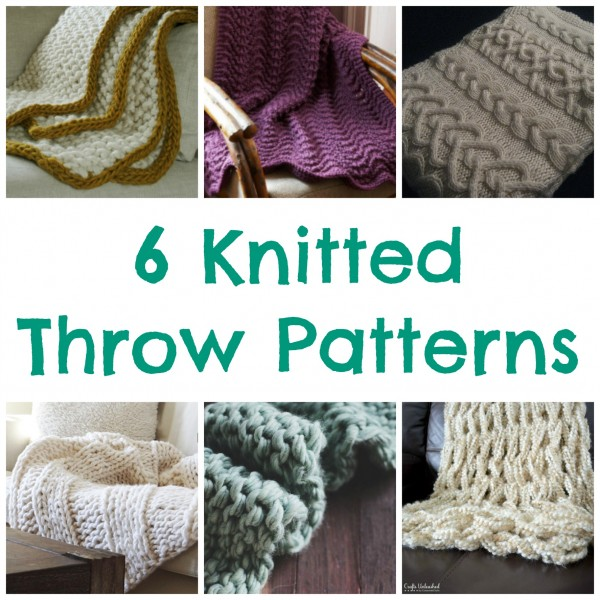 6 Knitted Throw Patterns Knitting