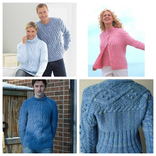 aran sweater knitting patterns