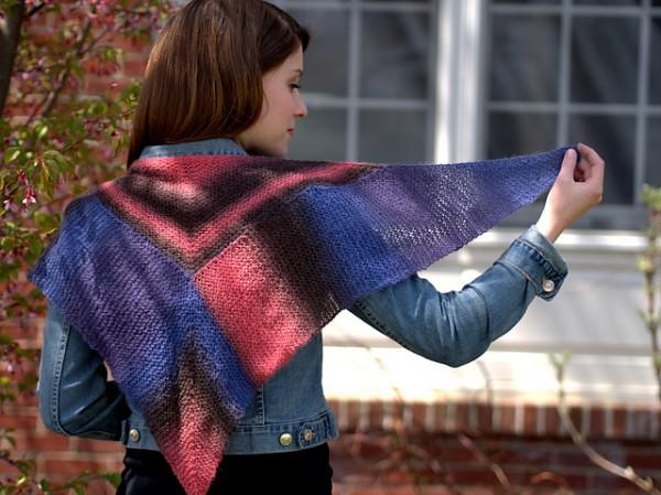 knit a fun shawl in modular style