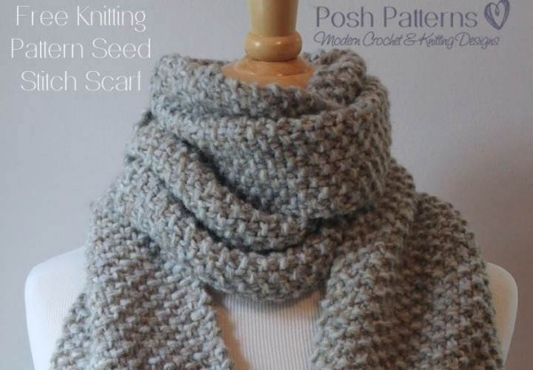 seed stitch scarf knitting pattern