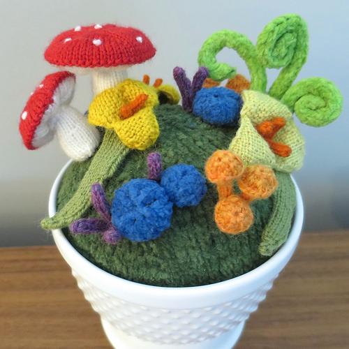 knit garden diy