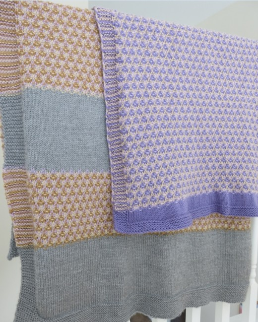 Knit A Blanket With A Fun Mosaic Pattern Knitting