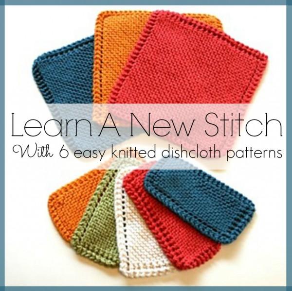 learn a new stitch by knitting a washcloth or dishcloth