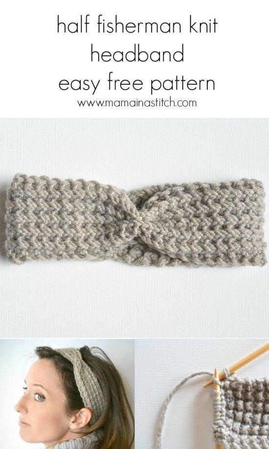easy ribbed headband knitting pattern