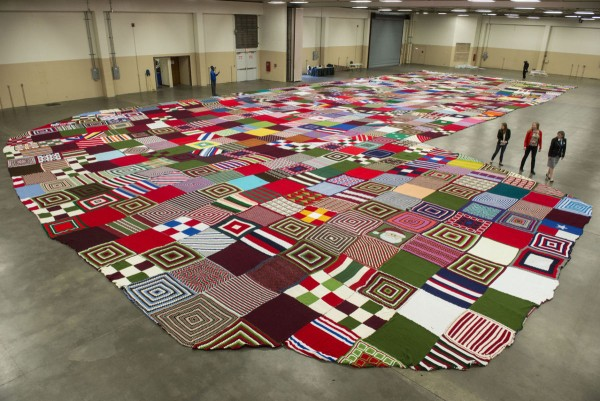world's largest knit and crochet stocking