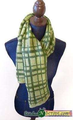 plaid scarf knitting pattern