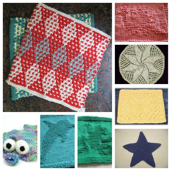 Free dishcloth knitting patterns and sources