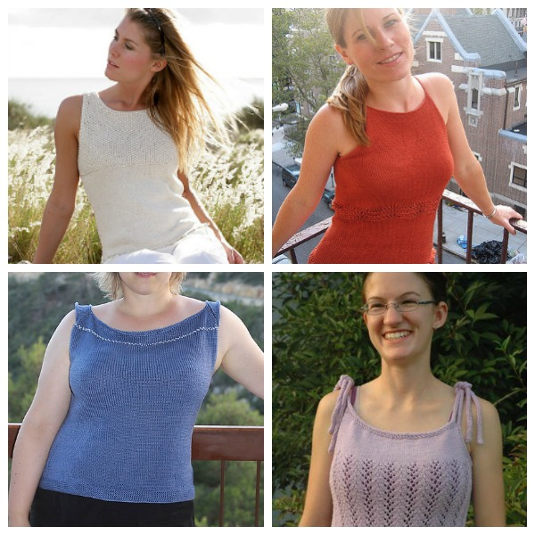 tank top knitting patterns