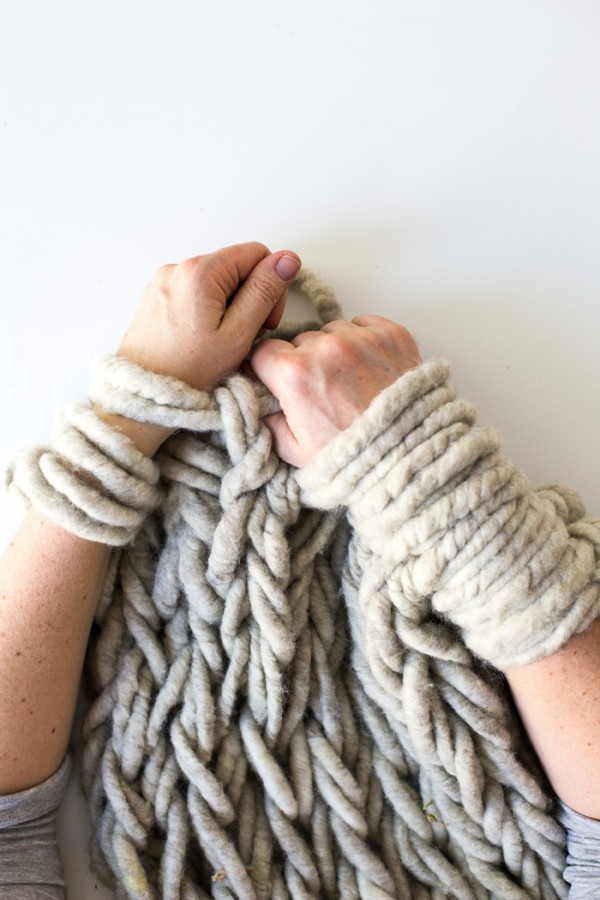 Tips for making your arm knitting tighter