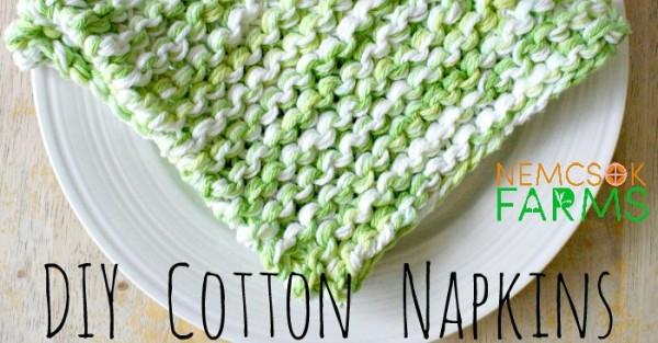 knit napkins
