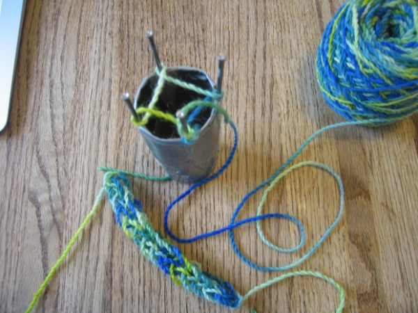 knitting spool made with nails