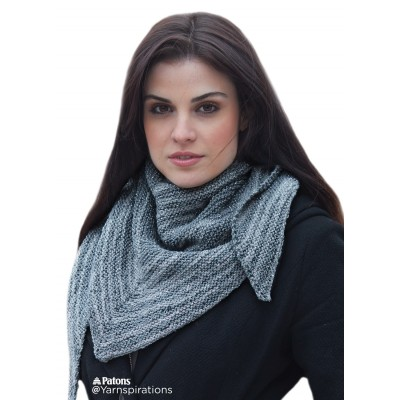 Easy Knit Gift Asymmetrical Knit Shawl Knitting