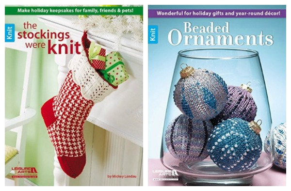 A couple of fun booklets full of holiday knitting ideas.