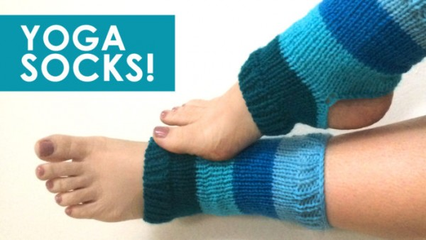 Yoga socks knitting pattern