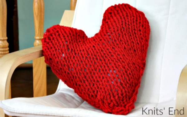 Knit a Heart Shaped Pillow for Valentine Day