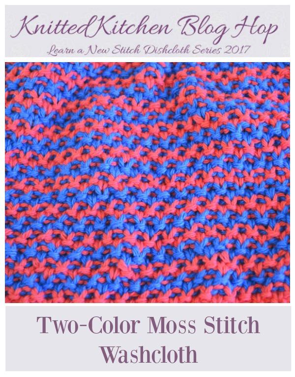 Two Color Moss Stitch Washcloth Knitting Pattern Knitting
