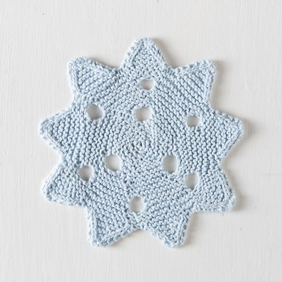 Snowflake dishcloth and more dishcloth knitting patterns.