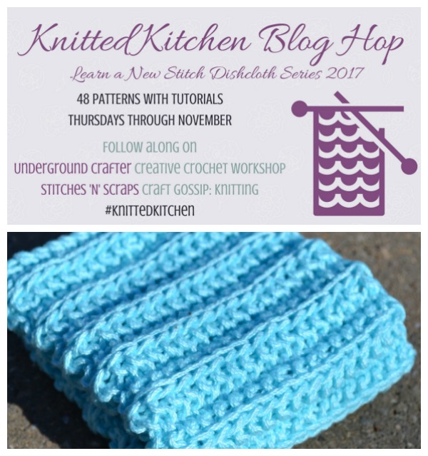 cartridge rib dishcloth knitting pattern