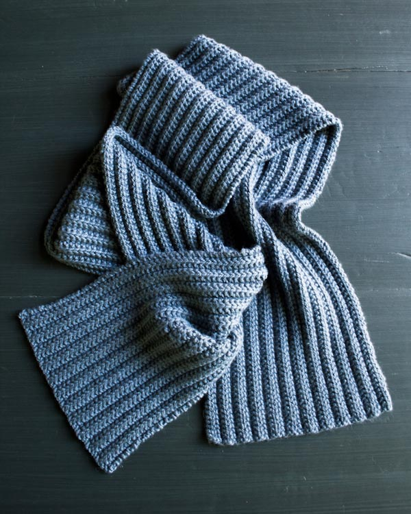 No Purl ribbed scarf from Purl Soho.