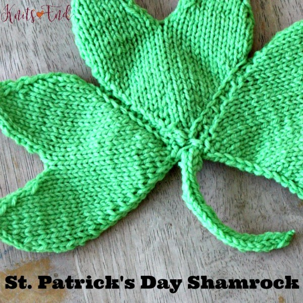 Quick knit shamrock