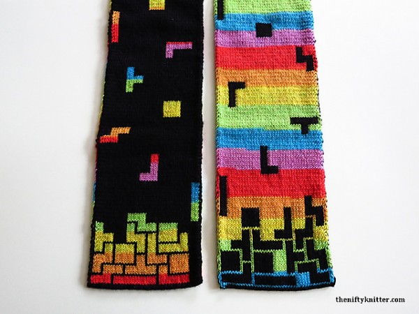 Stitch Some Old-School Video Game Geekery with the Tetris Scarf