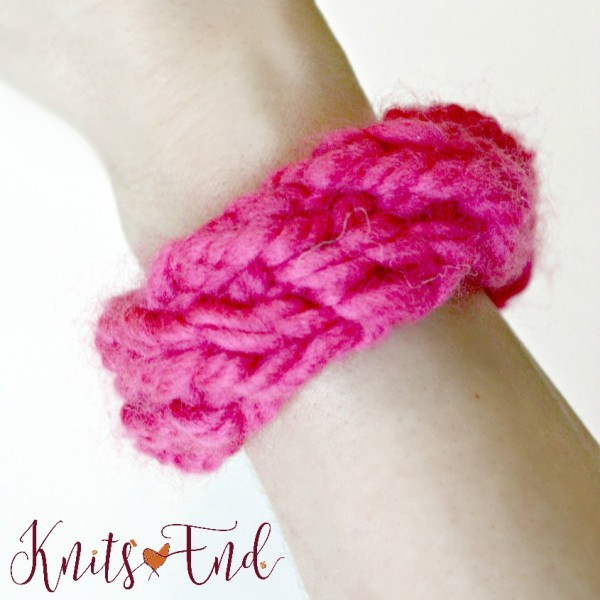 knit friendship bracelet tutorial