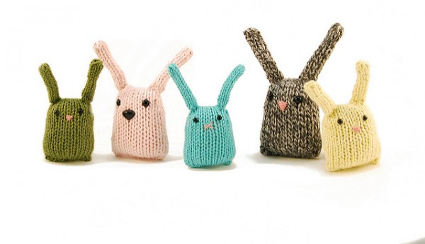Knit some sweet Bunny Nuggets to celebrate Easter or spring.