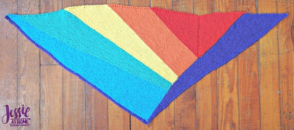 shifting rainbow shawl knitting pattern