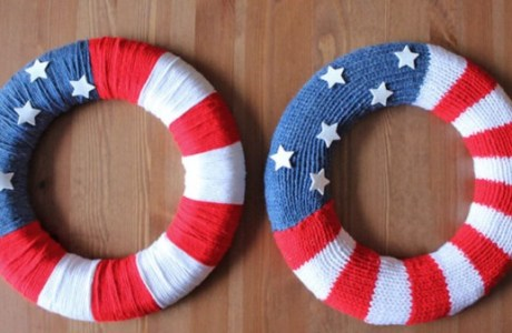 Knit (Or Not) This Patriotic Wreath