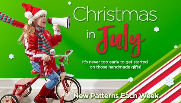Christmas in July patterns from Red Heart.