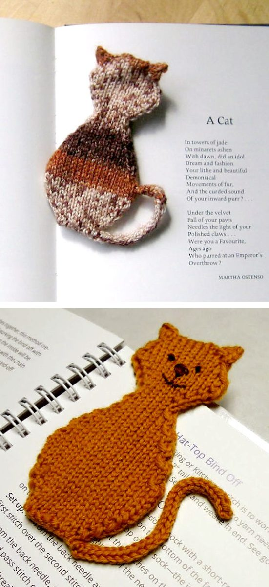 A Cool Collection of Bookmark Knitting Patterns for Back to School   Knitting