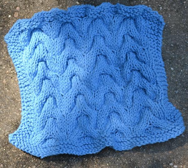 chevron cable dishcloth knitting pattern