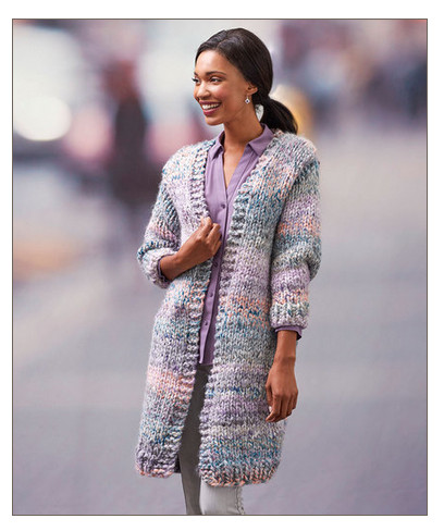 Get Ready For Fall With A Quick Knit Long Cardigan Knitting