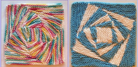 vortex dishcloth knitting pattern