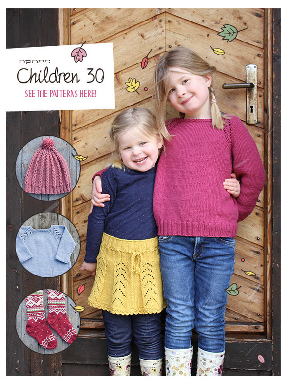 DROPS kids catalog knitting patterns