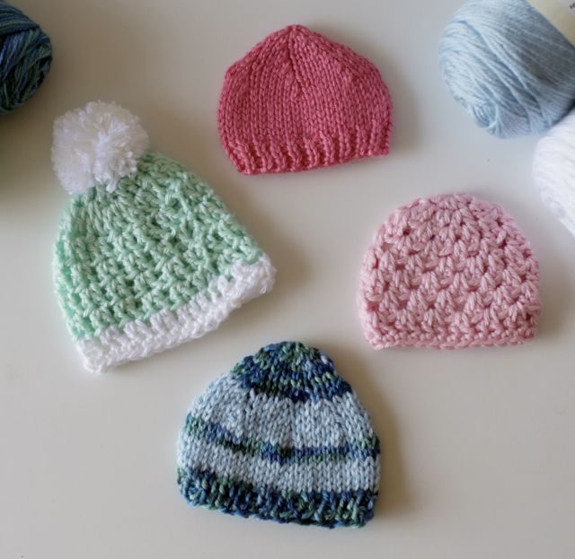 knit tiny hats for premature babies in Africa