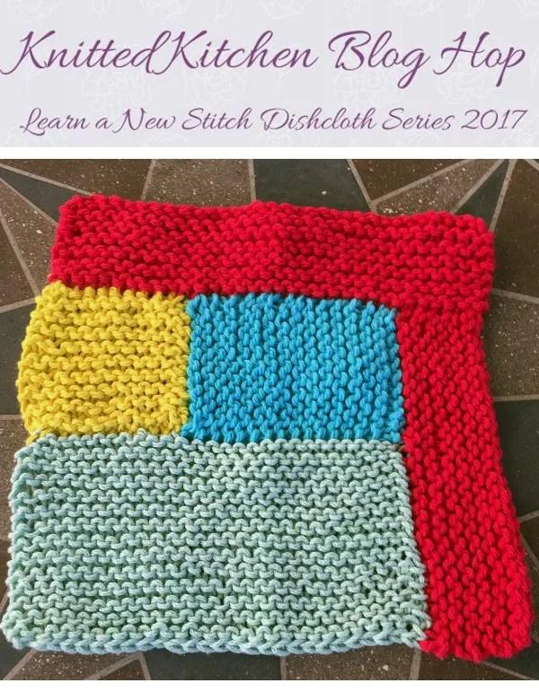 log cabin dishcloth knitting pattern