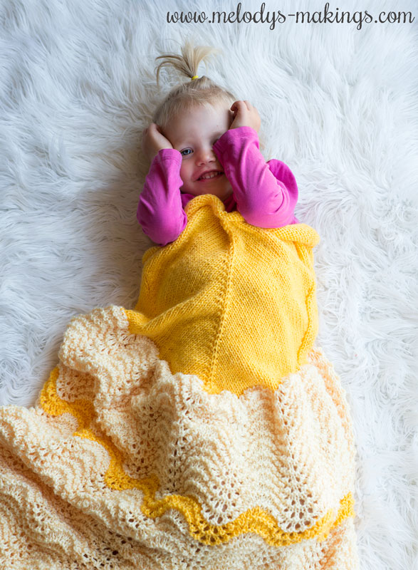 Check Out this Adorable Knit Princess Blanket