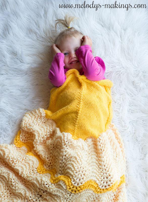 knit princess blanket
