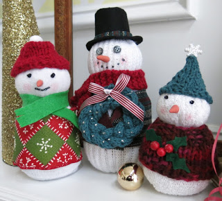 Make Sock Snowmen with Knit Accessories