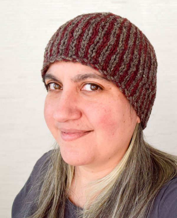 Stitch Simple Vertical Stripes in this Fun Hat Pattern