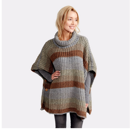 A Poncho Pattern that Might Actually Make Me Want to Knit a Poncho
