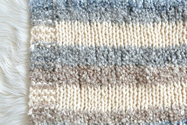 easy quick knit blanket