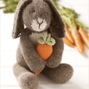 Knit an Adorable Bunny with Carrot