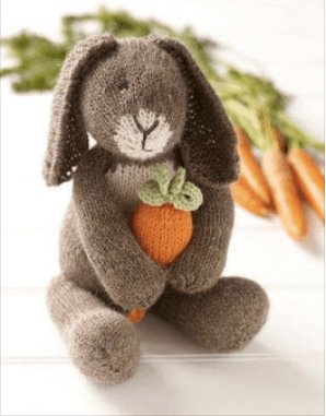 knit bunny with carrot