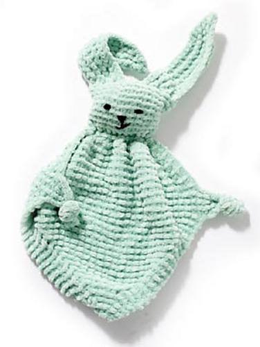 Knit a Sweet Bunny Blanket Buddy