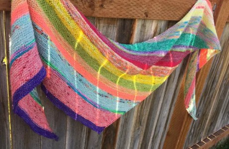 Use All Your Scraps to Knit a Great Shawl