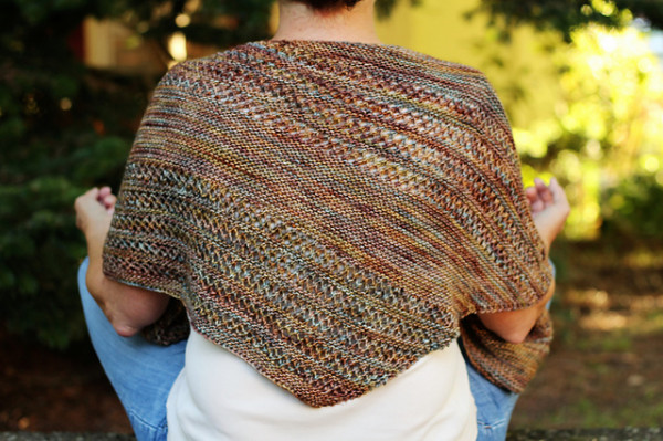 A Simple Shawl to Celebrate Colorful Yarn