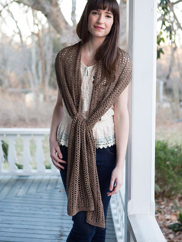 adrift lace shawl