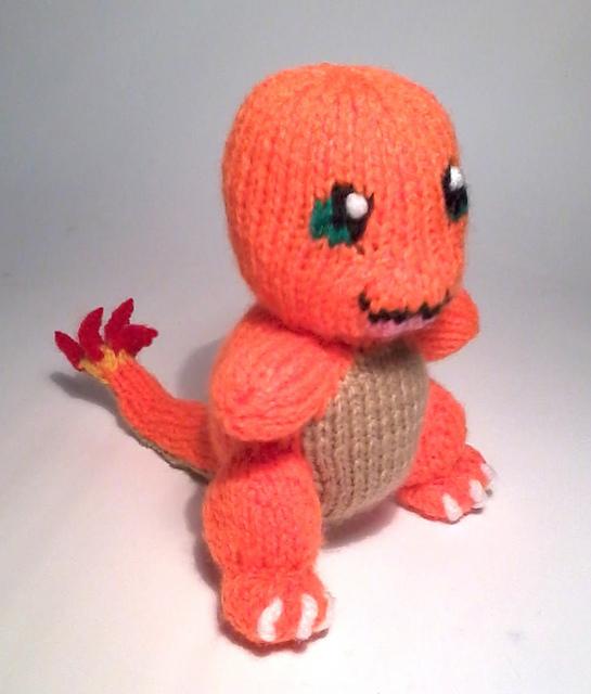 Charmander knitting pattern